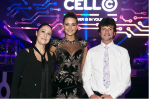 cell c awards with Rolene Strauss