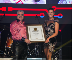 Cell C CEO awards with Rolene Strauss